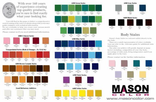 Mason Stain Color Chart