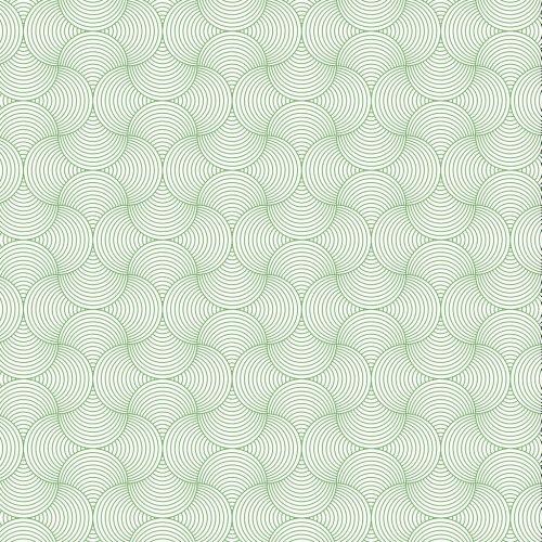 Line Circle Pattern Green